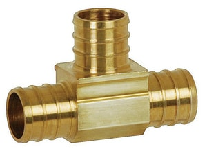 F1807 PowerPEX Brass Tee S641XG2