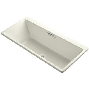 Kohler Reve® 19-1/16 x 66-15/16 x 31-1/2 in. 75 gal Drop-In Undermount Bathtub with Center Drain K817