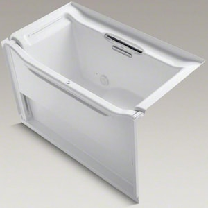 Kohler Elevance® 60 x 32 x 38 in. Left-Hand Drain Bath Tub with Bar in White K1913-LB-0