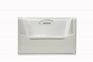 Kohler Elevance® 60 x 32 x 38 in. Bubble Massage Bath with Left-Hand Drain K1914-GLB