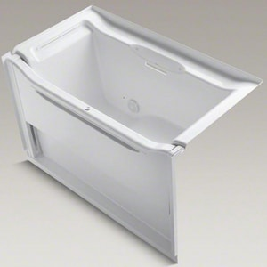 Kohler Elevance® 60-1/4 x 33-1/2 in. 3-Wall Alcove Rising Wall Bathtub with Left-Hand Drain K1913-L