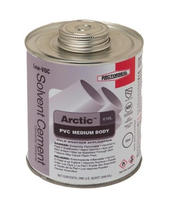 Rectorseal Arctic™ 616L 616L PVC Medium Body Low Volatile Organic Compound Cement REC55948