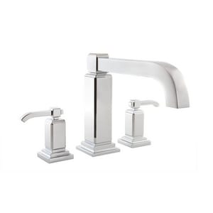 Pfister Carnegie™ 3-Hole Roman Tub Trim with Double Lever Handle PRT65WE