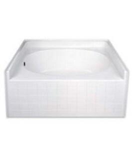Hamilton Bathware 60 x 42 in. Tub and Shower HG4260TOTILEWH
