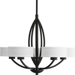 Progress Lighting Calven 23 in. 60W 5-Light Candelabra Chandelier PP453980