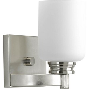 Progress Lighting Orbitz 100 W 1-Light Medium Bath Bracket Wall Sconce PP3030