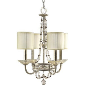 Progress Lighting Chanelle 60 W 4-Light Candelabra Chandelier PP4442