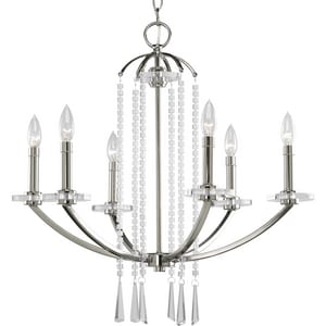 Progress Lighting Nisse 60W 6-Light Chandelier PP4139104