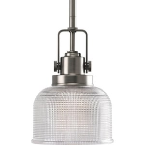 Progress Lighting Archie 1 Light 100W Pendant with Prismatic Glass PP5173