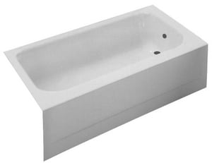 PROFLO® Rampart 16-1/4 x 60 x 30 in. Enameled Steel Above Floor Rough-In Left Hand Rectangle Bathtub PFB16LS2