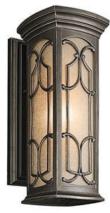 Kichler Lighting Franceasi 18 in. Height 100 W 1-Light Medium Lantern in Olde Bronze KK49227OZ