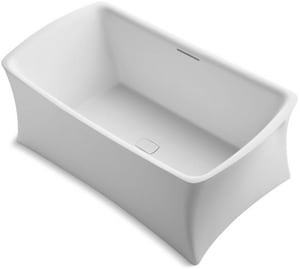 Kohler Aliento® 66 x 36 in. Freestanding Bathtub in Honed White K1805-HW1