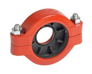 Victaulic Style 750 8 x 6 in. Grooved Painted Ductile Iron Coupling with Enamel Gasket VDOMLF47750PE0