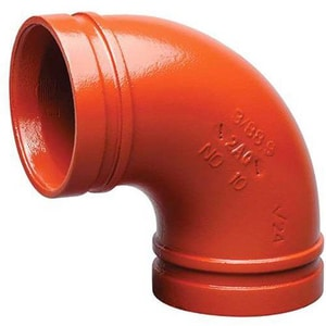 Victaulic Style 50 4 x 2 in. Grooved Painted Concentric Reducer VDOMFD29050P00