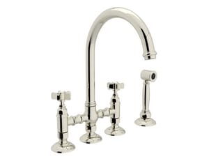 Rohl Country Kitchen 1.8 gpm 2-Handle Deck Mount Kitchen Sink Faucet RA1461XWS