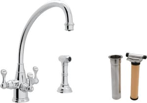 Rohl Perrin & Rowe® 1-Hole Deckmount Kitchen Faucet with Triple Lever Handle and 8-5/8 in. Spout Reach RUKIT1520LS2