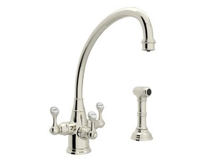 Rohl Perrin & Rowe® 12 in. 2-Hole Kitchen Sink Faucet with Triple Lever Handle RU1520LS2