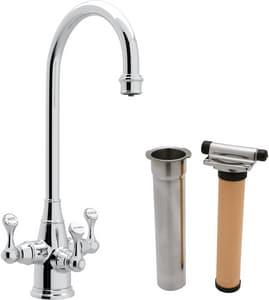 Rohl Perrin & Rowe® 1-Hole Triple Lever Handle Column Spout Deckmount Bar Faucet RUKIT1220LS2