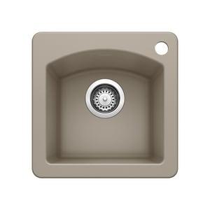 Blanco america diamond 15 x 15 in single bowl drop in for Blancoamerica com kitchen sinks