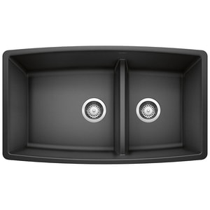 Blanco America Performa™ 1-3/4 Double Bowl Under-Mount Granite Sink B4413