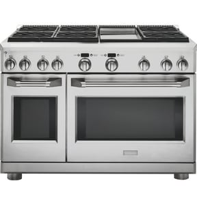 General Electric Appliances MONOGRAM® 47-7/8 in. 8.9 cf 6-Burner Freestanding Convection Range in Stainless Steel GZGP486DRSS