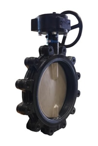 Milwaukee Valve 150# Ductile Iron Flanged Butterfly Valve with Gear Operator MML333E