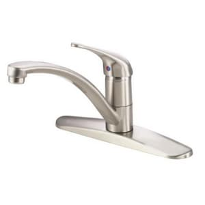 Danze Melrose™ 2.2 gpm Single Lever Handle Deckmount Kitchen Sink Faucet Swivel Spout 1/2 in. NPSM Connection DD406112
