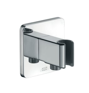 AXOR Urquiola Hand Shower Holder with Integrated Hose Connection in Polished Chrome AX11626001