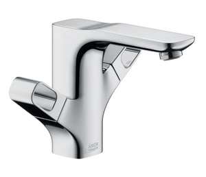AXOR Urquiola 1-Hole Double-Handle Lavatory Faucet in Polished Chrome AX11024001