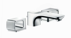 AXOR Urquiola 3-Hole Lavatory Faucet with Double Knob Handle in Polished Chrome AX11041001