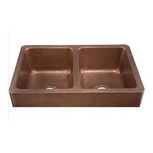 Thompson Traders Corniglia 33 x 22 in. 2-Bowl Kitchen Sink Medium Antique TKDA3322AH