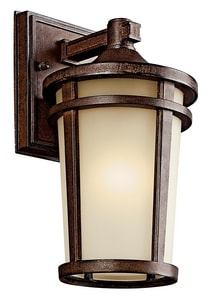 Kichler Lighting Atwood 13W 1-Light Lantern in Brown Stone KK49071BSTFL