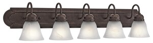 Kichler Lighting 100W 5-Light Medium Base Incandescent Bath Vanity KK5339