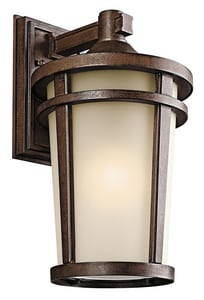 Kichler Lighting Atwood 17-3/4 in. 150W 1-Light Medium Lantern in Brown Stone KK49073BST