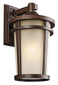 Kichler Lighting Atwood 17-3/4 in. 150W 1-Light Medium Lantern in Brown Stone KK49073BST