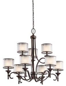 Kichler Lighting Lacey™ 29-1/2 in. 60W 9-Light Chandelier KK42382