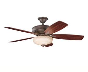 Kichler Lighting Monarch II™ 52 in. 5-Blade Ceiling Fan with Light Kit KK339213