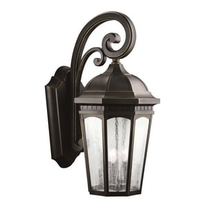 Kichler Lighting Courtyard™ 60W 3-Light Wall Mount Outdoor Lantern KK9035