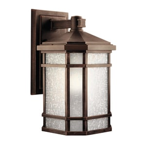 Kichler Lighting Cameron™ 200W 1-Light Outdoor Wall Light in Prairie Rock KK9720PR