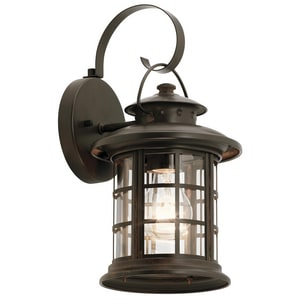 Kichler Lighting Rustic 100W 1-Light Outdoor Wall Lantern KK9760
