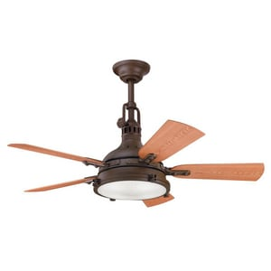Kichler Lighting Hatteras Bay™ 44 in. 5-Blade Ceiling Fan with Light Kit KK310101TZP