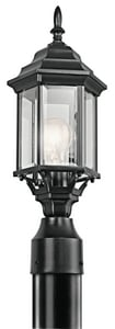Kichler Lighting Chesapeake 100W 1-Light Medium Base Wall Mount Lantern in Black KK49256BK