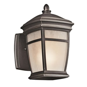Kichler Lighting McAdams™ 9-1/2 in. 100W 1-Light Medium Wall Mount Lantern KK49270RZ