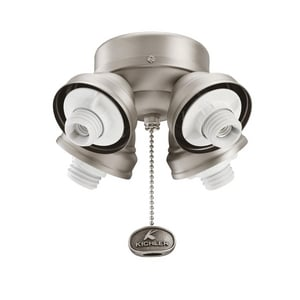 Kichler Lighting 40W 4-Light Turtle Fitter Ceiling Fan Light Kit KK350011