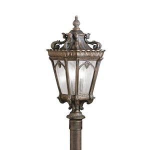Kichler Lighting 60W 120V 3-Light Candelabra Outdoor Post Mount KK9558