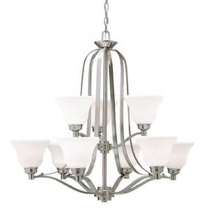 Kichler Lighting Langford™ 30-1/2 in. 100W 9-Light Medium E-26 Ceiling Mount Chandelier KK1784