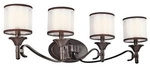 Kichler Lighting Lacey™ 10 in. 60W 3-Light Candelabra Incandescent Bath Light KK45284