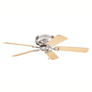 Kichler Lighting Stratmoor™ 52 in. 5-Blade Ceiling Fan Stratmoor Teakwood in Brushed Stainless Steel KK339022BSS