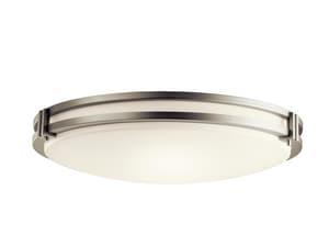 Kichler Lighting 24 in 78W 3-Light Compact Fluorescent Flush Mount Ceiling Fixture KK10828