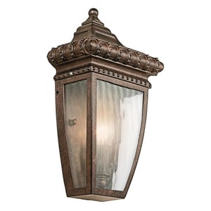 Kichler Lighting Venetian Rain 60W 1-Light Outdoor Wall Sconce KK49130